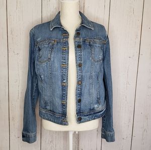 New York & Company Womens Blue Jean Jacket Large